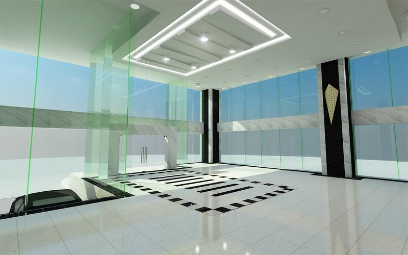 vách kinh cường lực - gợi ý thiết kế một không gian mở